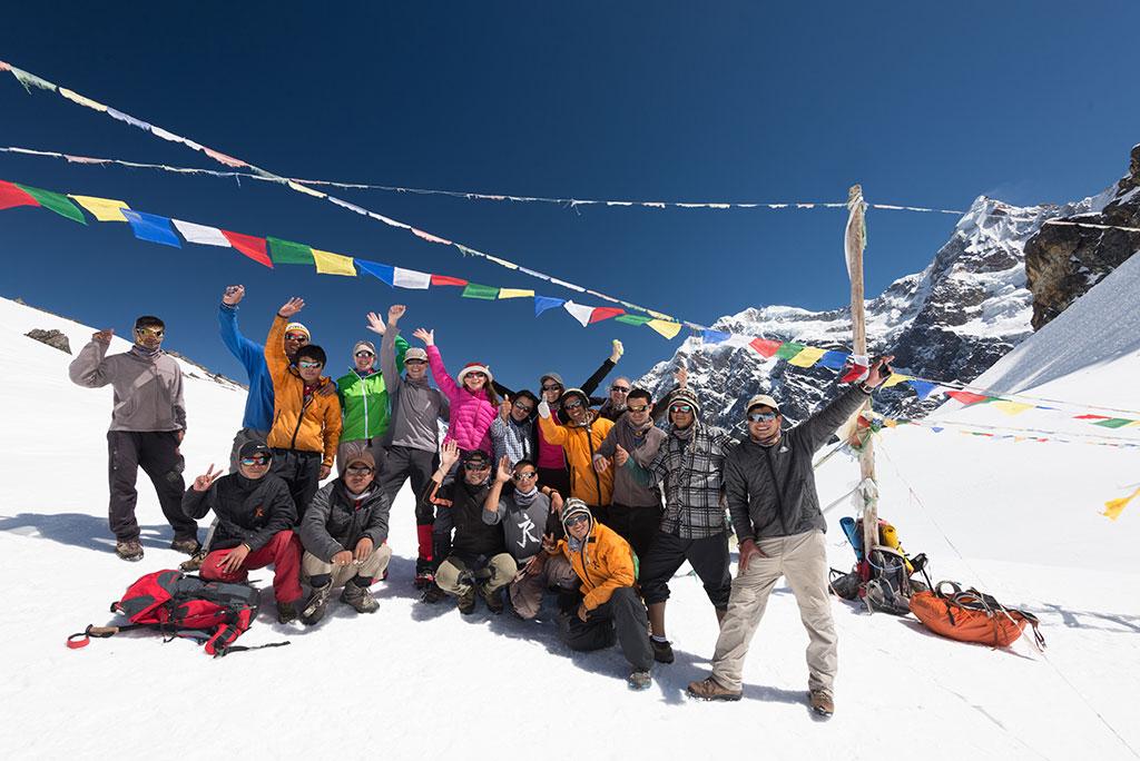 Nango La Pass with the group