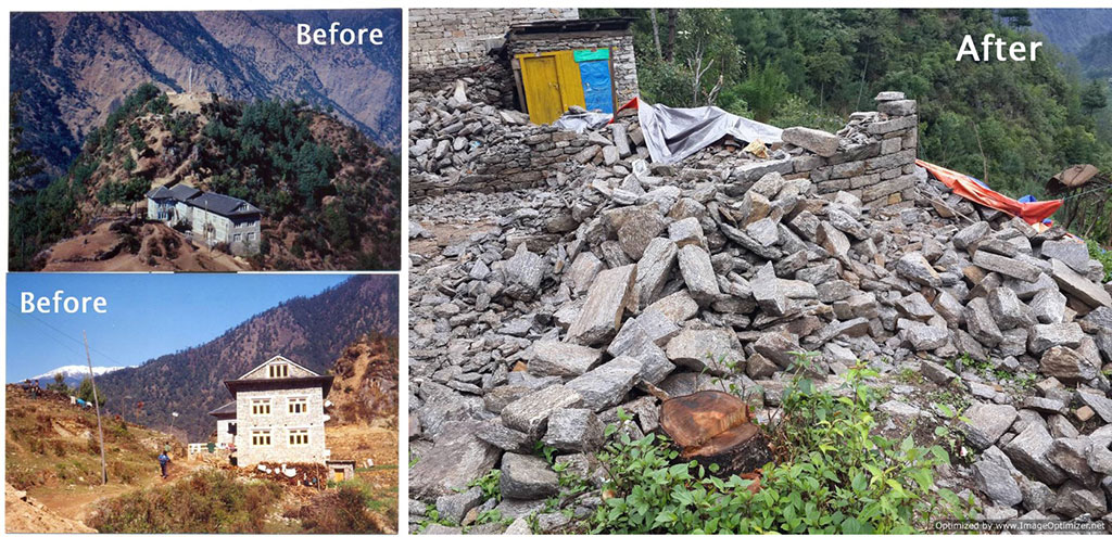 Nepal, before and after the earthquake.
